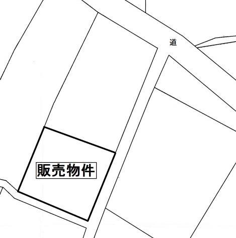 桜川市真壁町田(自社)公図