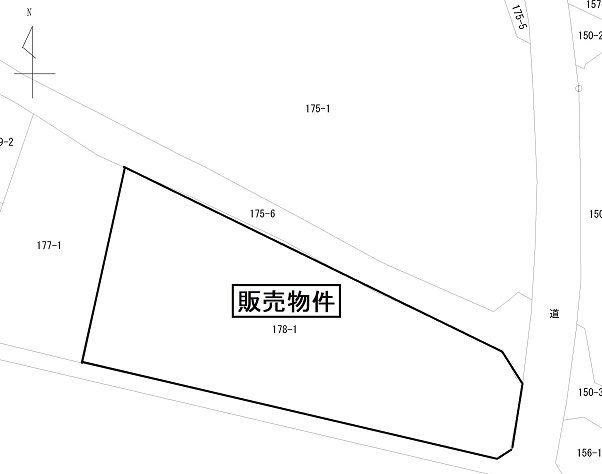 桜川市長方公図(斎川商店)